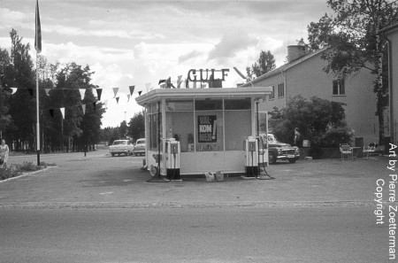 Gulf station i Bromma 1954