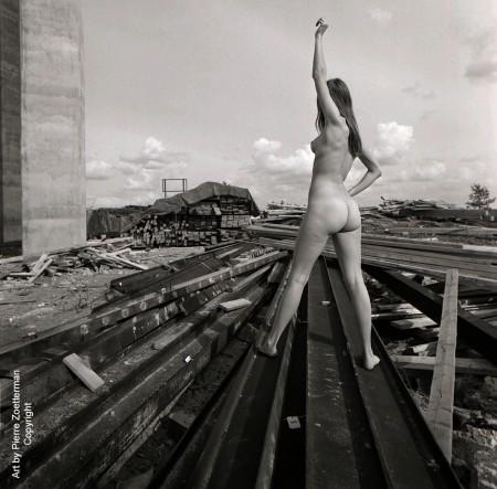 Yvonne vid sätra vattentorn 1966 20