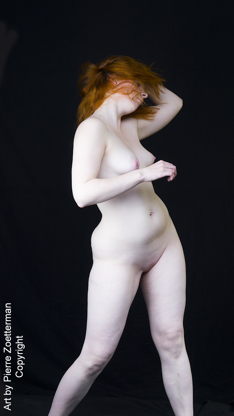 Pity, Naked girl with white skin