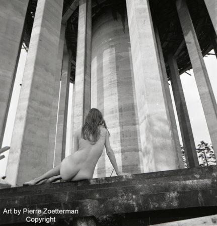 Yvonne vid sätra vattentorn 1966 3